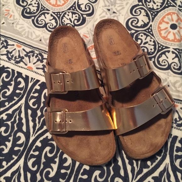 a014f9c00f5d Birkenstock Shoes - Metallic Copper Arizona Soft Footbed